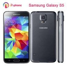 Original samsung galaxy s5 i9600 telefone móvel desbloqueado remodelado 3g & 4g 16mp câmera gps wifi android smartphone