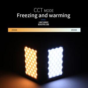 Image 5 - Manbily MFL 08 RGB LED Licht 2500 K 8500 K Lampe Dimmbare SZENE Studio Video Vlog Fotografie Beleuchtung für Youtube DSLR Kamera