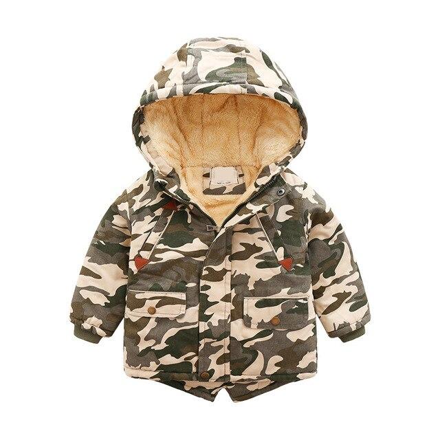 Commerce extérieur coton vêtements en gros 2019 hiver nouveaux vêtements pour enfants mode camouflage manteau enfants plus épais coton veste