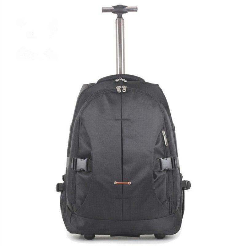 Деловой женский чехол на колесиках для компьютера, рюкзак на шасси, 19/21, 24 дюйма, мягкий чехол, алюминиевый стержень/багаж для путешествий, мужская сумка