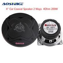 Car Speaker Midrange-Power Bass 2-Ways AOSHIKE 4inch 4ohm And 2PCS Deep 200W Aluminum-Cone