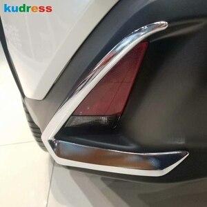 For Lexus UX 200 250h 260h 2019 2020 2021 Chrome Car Rear Fog Light Cover Trim Foglight Lamp Frame Strip Exterior Accessories