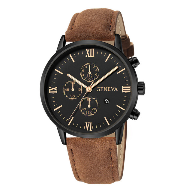 Geneva Synthetic Leather Analog Quartz Sport Watch 5