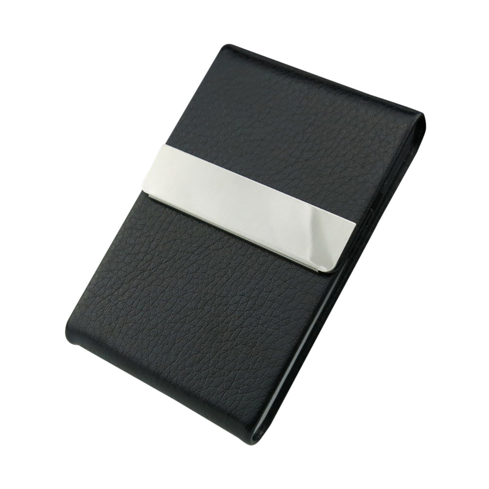 New Stainless Steel High Quality Card Case Leather Men Luxury Brand ID Credit Card Visiting Cards Holder Wallet Woman 812