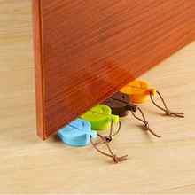 Leaf soft rubber door top pad Child safety door stop silicone anti-pinch door card Windproof door clip Anti-collision door mat