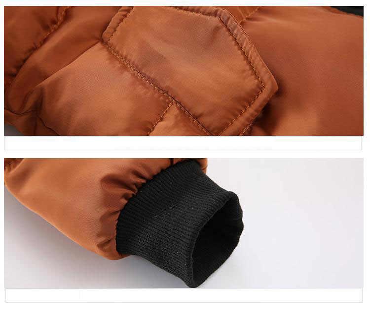 תינוק בני מעילי 2019 סתיו חורף מעילי ילדה ילדי מעילי ילדים חם ברדס הלבשה עליונה מעיל ילד בגדי 1 -5 שנים