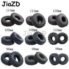 4 stücke 1,9 zoll Felsen Reifen Reifen Gummi Rad Reifen für 1:10 RC Rock Crawler TRX4 Bronco D90 D110 Axial scx10 90046 RC4WD CC01 TF2