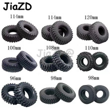 Pneu de borracha pneu 1.9 polegadas, 4 unidades, roda de borracha para 1:10 rc rock crawler trx4 bronco d90 d110 axial scx10 90046 rc4wd cc01 tf2