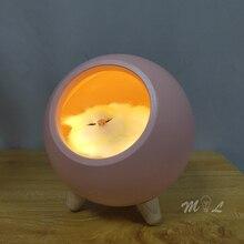 Touch Sensor Led Night Light Cute Animal Night Lamp Minimalist Desk Lamp Cat Children Gift Room