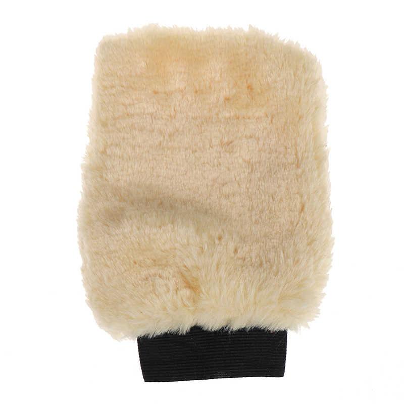 ホット MicrofiberTools 自動ディテールブラシスポンジぬいぐるみミット洗車グローブミトン洗濯クリーニングブラシ