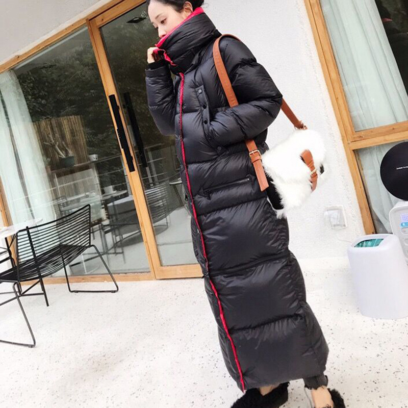 2020 Winter Long <font><b>90</b></font> %white duck down Coat Female Warm Parka fashion Women Down Jacket Warm Winter Jacket black Coats Tops YRF42 image