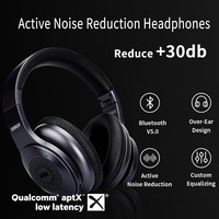 EP765 aptX LL Wireless Bluetooth v5.0 Noise Cancelling Headphones With Mic Stereo for Custom Sound Control Bass Rich Phone TV