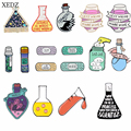XEDZ Волшебная Медицинская бутылка научный Химический реагент бутылка хлопковый шар повязка серия брошь коллекция значков ювелирные издели...