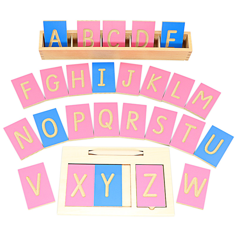 Montessori Writing Board with Pen Toys English Lowercase Letters Digitals 0-10 Numerical Computation Pen Training for Children