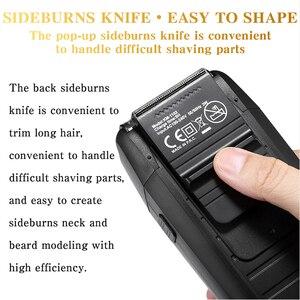 Image 4 - Kemei tagliacapelli professionale ricaricabile elettrico Cordless potente barba Trimmer facciale tagliacapelli tagliatrice adulto