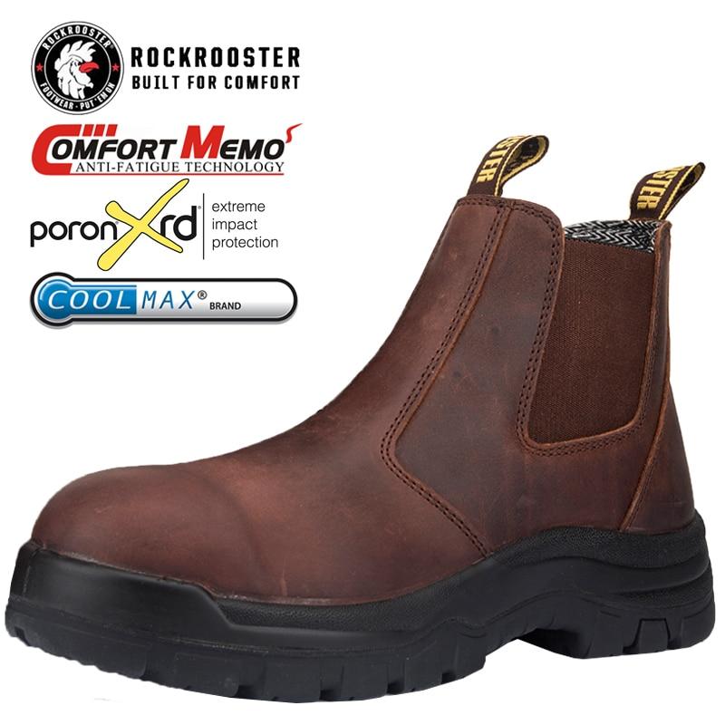ROCKROOSTER Safety Shoes Men Work Boots