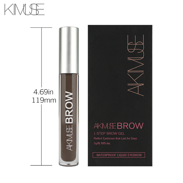 KIMUSE Eye Eyebrow Gel Makeup Tattoo Eyebrows in 2 Mins Black Brown Tint Waterproof Eyebrow Makeup Gel Eyebrow Pencil 2