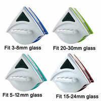 Brosse de nettoyage de verre de fenêtre magnétique double face tenue dans la main pour laver les fenêtres