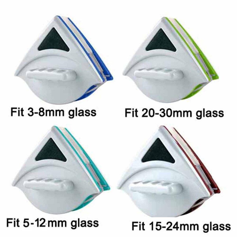 Ręczny dwustronnie magnetyczny do okna czyszczenie szkła szczotka do mycia okien cleaner szklana powierzchnia pędzel 3-30mm