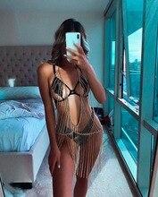 Fashion Body chain Women Tassel Harness belly women big Bikini Chains Girl punk Beach Statement body jewelry