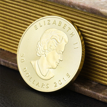 Canada 20 Dollar Gouden Munten Canadese Maple Leaf Gemenebest Queen Coin Herdenkingsmunt Copy Coin Gift Token Drop Shipping