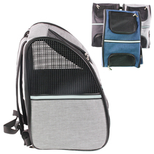 Portable Pet Backpack Outdoor Travel Foldable Cat Dog Carrier Bag Double Shoulder Breathable Oxford Mesh Puppy Backpack outdoor pets cat dog front backpack carrier travel bag bleathable mesh pet double shoulder backpack carrying shoulder pack puppy
