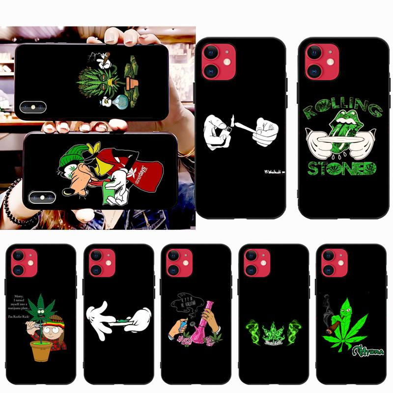 HPCHCJHM 420 rolling weed smoking Soft black Phone Case for iPhone 11 pro XS MAX 8 7 6 6S Plus X 5S SE 2020 XR case