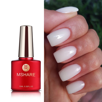 MSHARE Milky White Builder Gel Nails Extension Thick Quick Building Clear Pink Nail Tips Led UV Gel Soak Off 1