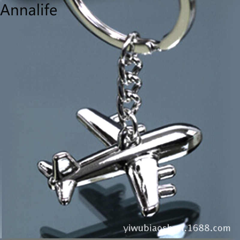 2019 New Women Men Creative 3D Simulation Model Airplane Phone Keychain Keyring Key Chain Key Ring Jewelry