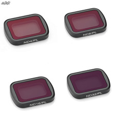 4Pcs Lens Filters Kit ND PL ND4 + ND8 + ND16 + ND32 Filters Voor Dji Osmo Pocket/Osmo pocket 2 Camera Gimbal Accessoires