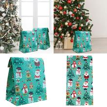 Storage Christmas Santa Claus Snowman Elk Penguin Gift Bag Party Candy Packaging Paper Pouch