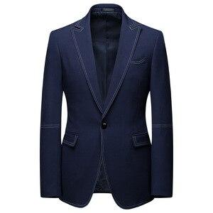 Image 3 - Men Suits 2 Piece Sets Designers Single buckle Groom Wedding Dress Slim Fit Formal Offices Classic Prom Suit Jacket Trousers