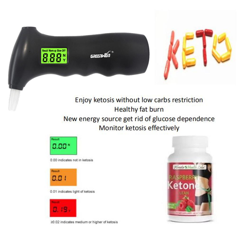 GREENWON Breath keto tester breath Ketogenic Diets for fat burn & loss weight acetones analyzer