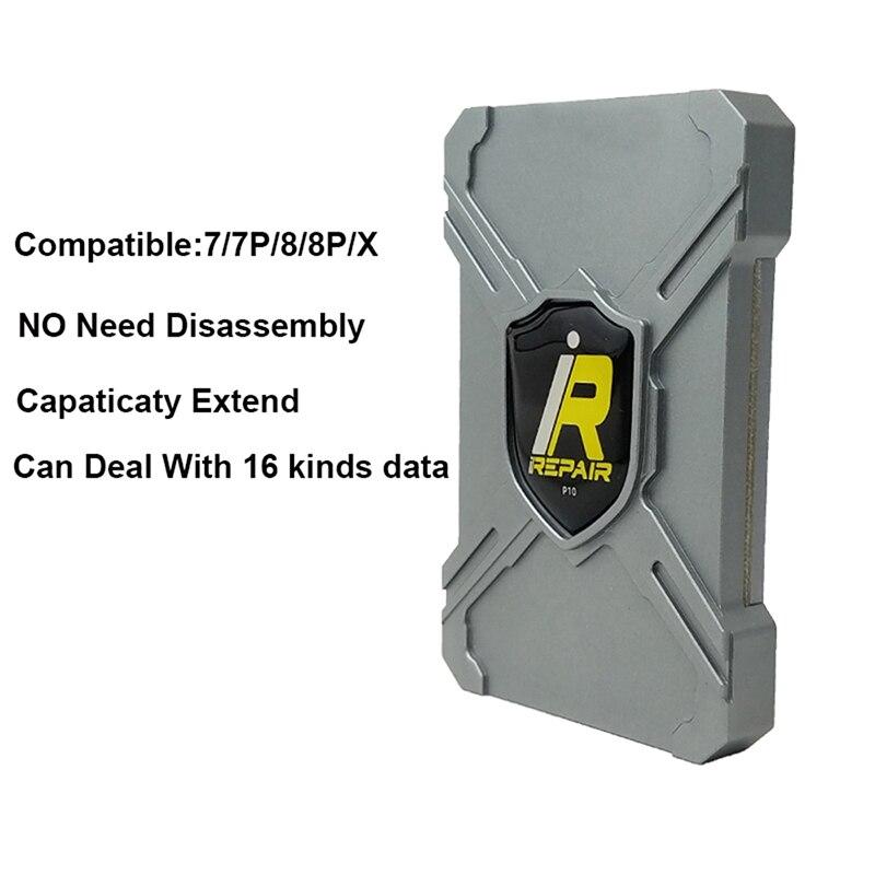 IRepair P10 DFU BOX For iP 7 8 X 일련 번호 읽기 및 쓰기 원 클릭 풀기 WiFi 및 기타 모든 syscfg 데이터 분해 없음