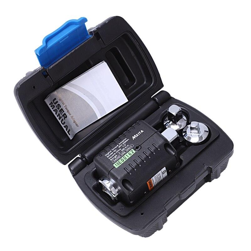 Mxita 2-200nm conjunto de 3 peças com adaptador de torque digital tabela chave de torque cabeça de exibição de torque