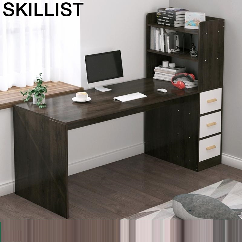 Scrivania Notebook Standing Escritorio Tafel Office Furniture Bed Tray Computer Desk Laptop Stand Tablo Table With Bookshelf