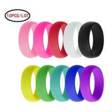 10PCS/LOT Silicone Couple Rings 8mm Fashion Wedding Women Men Flexible ECO-Friendly Rubber Finger Ring