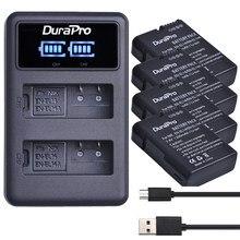 4x EN-EL14 es EL14 EL14A batería recargable de Li-Ion + LED cargador Dual USB para Nikon ENEL14 d5300 d5200 d5100 d3100 d3200 P710