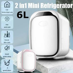 Mini Fridge Cooler & Warmer Portable Compact Personal Fridge 100% Freon-Free Eco Friendly Car Refrigerator For Office And Car