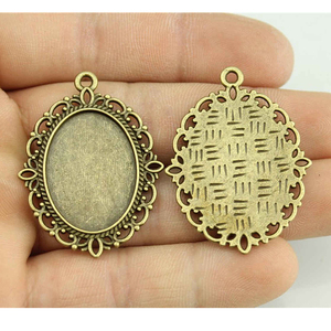 10pcs 13x18mm Inner Size Vintage Antique Bronze Color Zinc Alloy Cameo Cabochon Base Setting For Jewelry Making