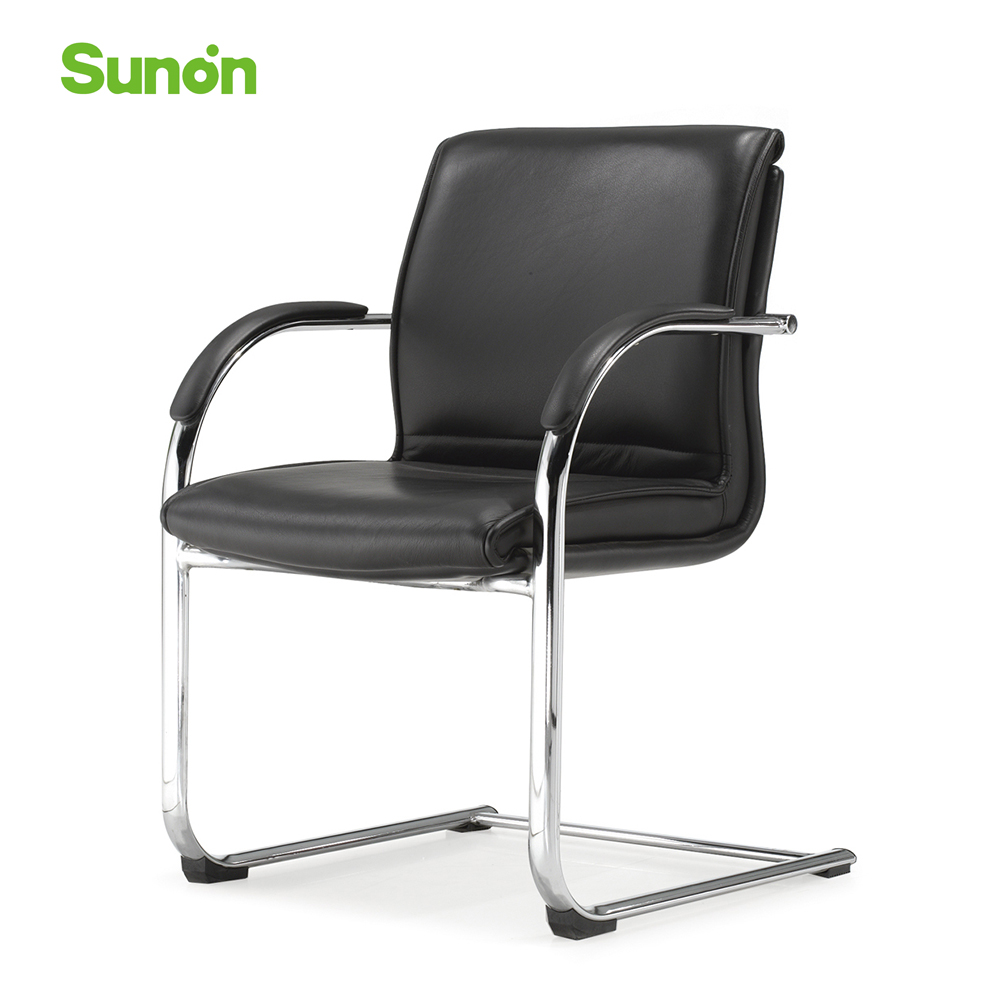 Multifunctional Office Chair Medium Back Computer Chair Office Furniture Black Leather Chairs For Household
