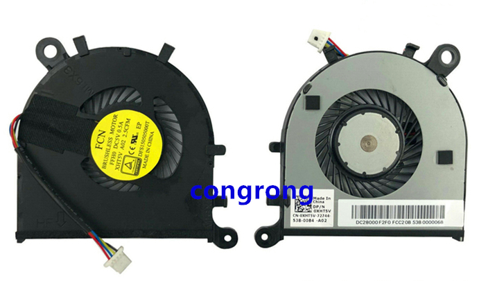 New For Dell XPS 13 9350 9343 9360 Series Cpu Cooling fan 0XHT5V DC28000F2F0
