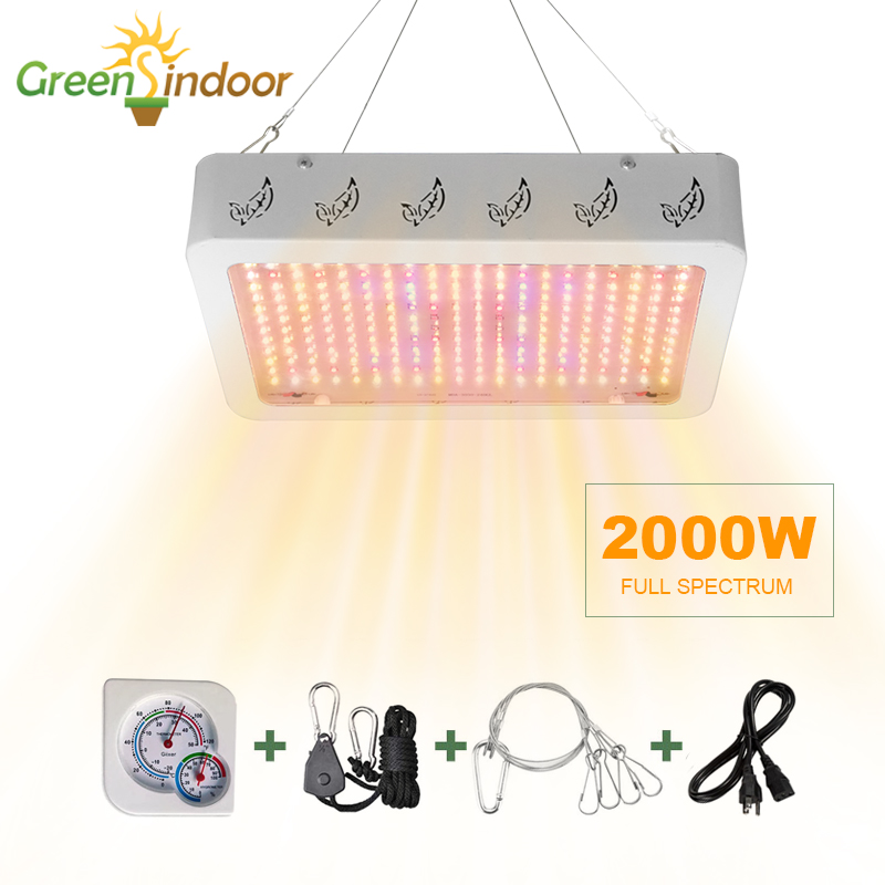 Indoor LED Grow Light 1000W 2000W Full Spectrum Phyto Lamp For Plant Lights For Flowers Grow Tent Room Daisy Chain Led Fitolamp