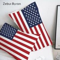 3D HD Fronha Fronha Personalizada/50x70/50x75/50x80/70 x 70 Fronha Decorativo  estados Unidos da bandeira de Cama Transporte da gota|Fronha| |  -