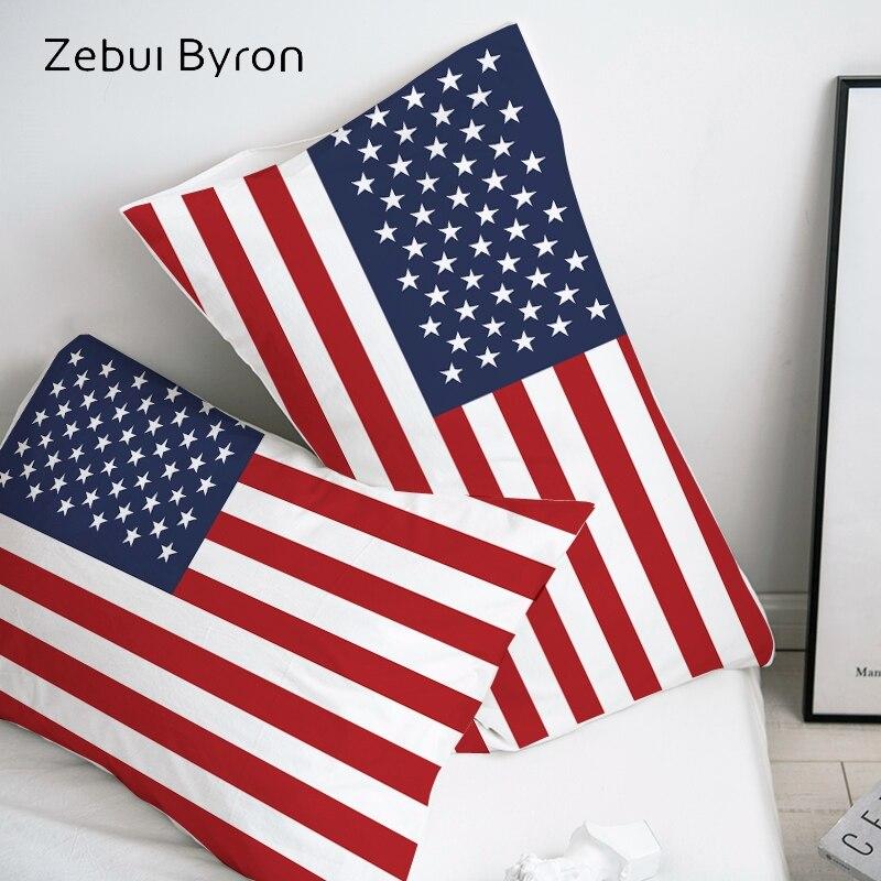 Ev ve Bahçe'ten Yastık Kılıfı'de 3D HD Yastık Kılıfı Yastık Kılıfı Özel/50x70/50x75/50x80/70x70 Dekoratif Yastık Örtüsü  bayrağı Birleşik Devletleri Yatak Drop Shipping