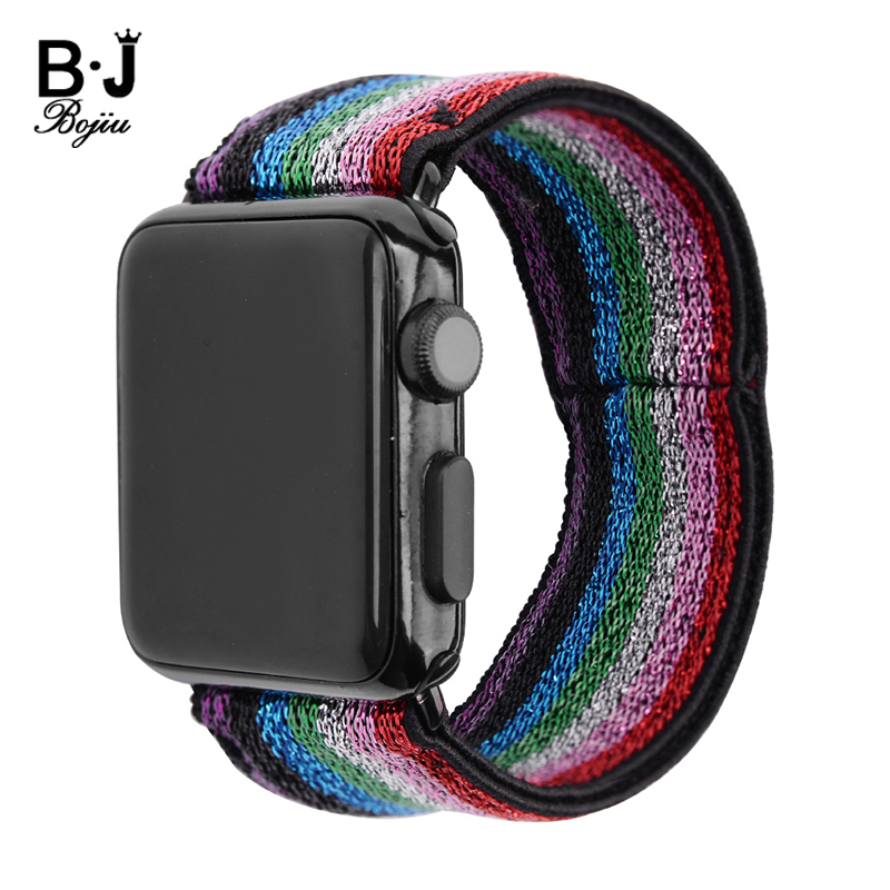 Stretchy Loop Watchbands Straps For Apple Watches 32mm Magnetic Stainless Steel Buckle Textil Replacement Band Accessories BC371