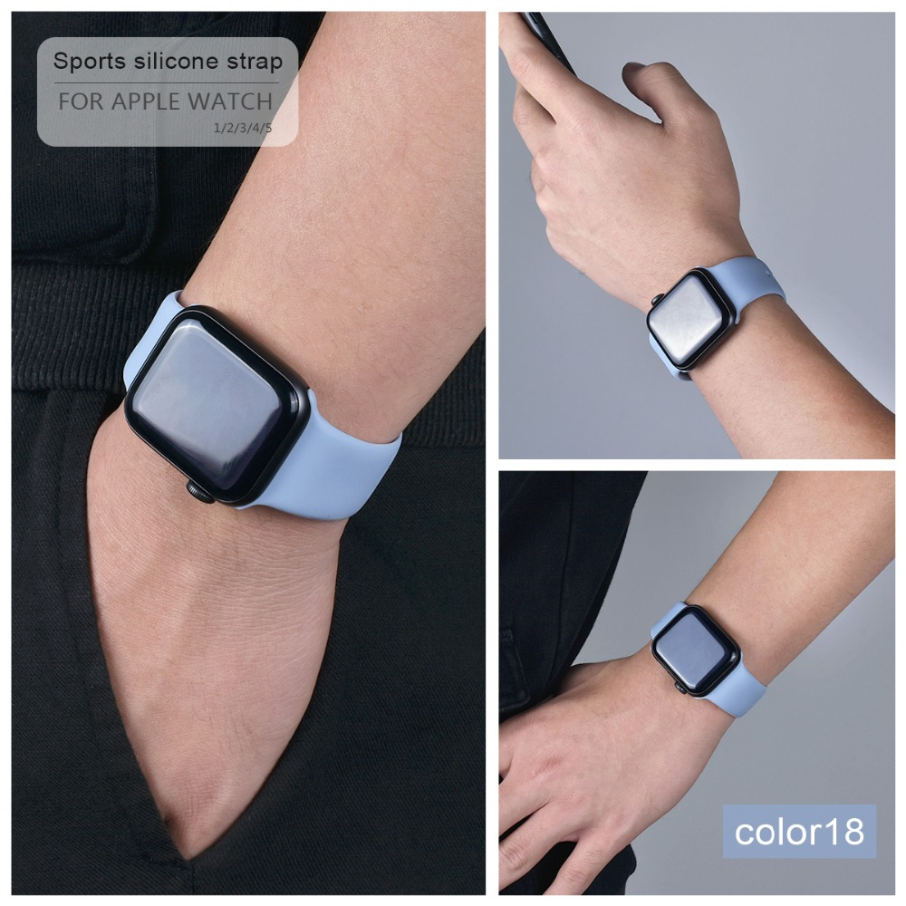 Soft Silicone Band for Apple Watch 94