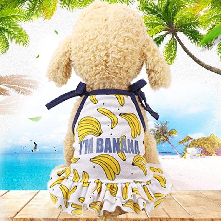 颜色01裙子-香蕉图案