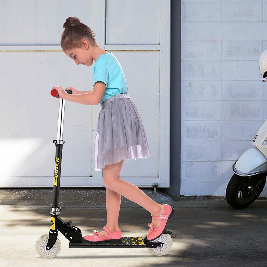 Алюминиевый детский скутер Регулируемый складной скутер для детей высота унисекс Лига 2 Kick колесо самоката город роликовые коньки
