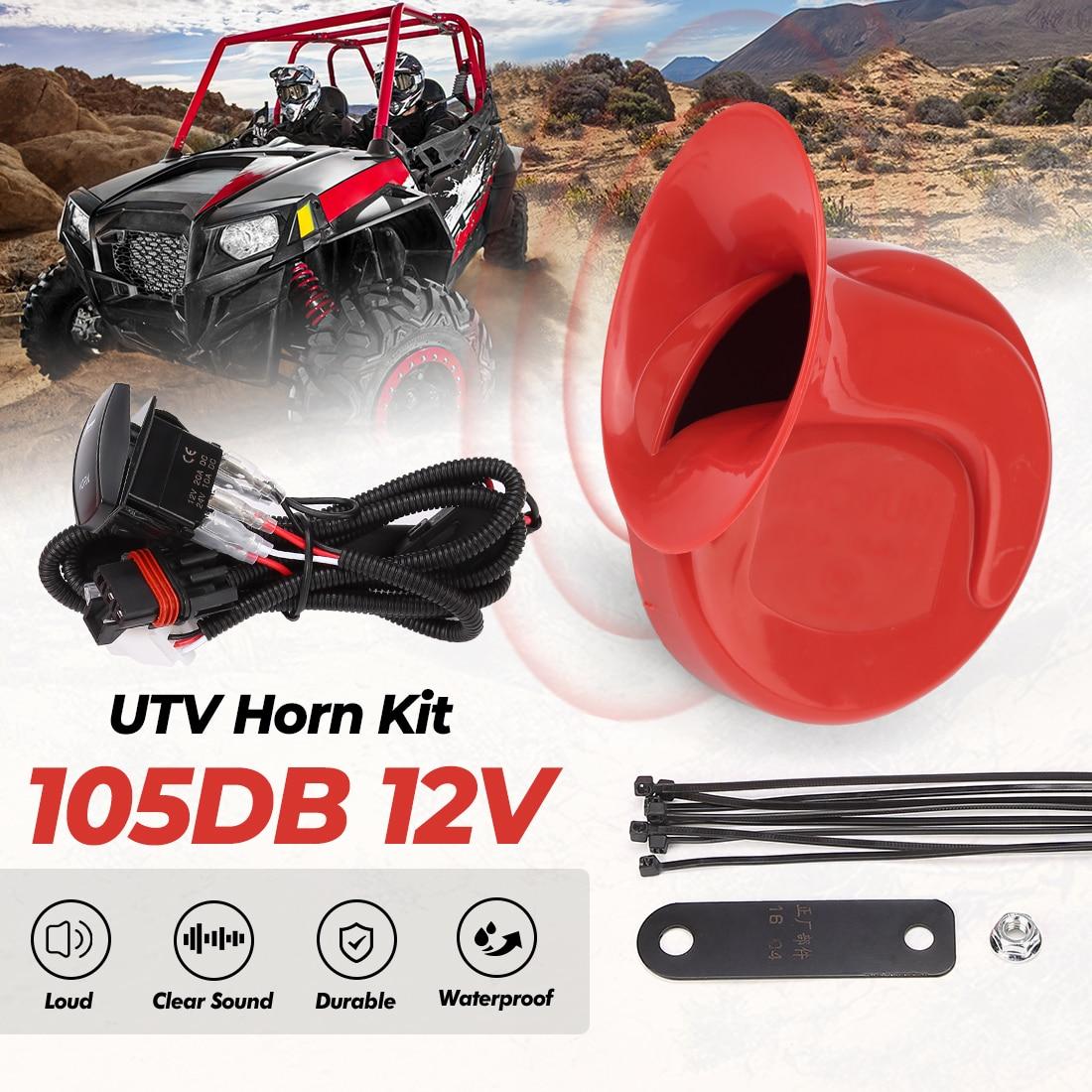 Универсальный рожок UTV KEMI MOTO с переключателем для Polaris RZR 800 XP Ranger для Can-Am Maverick X3 для Arctic Cat для Cf moto